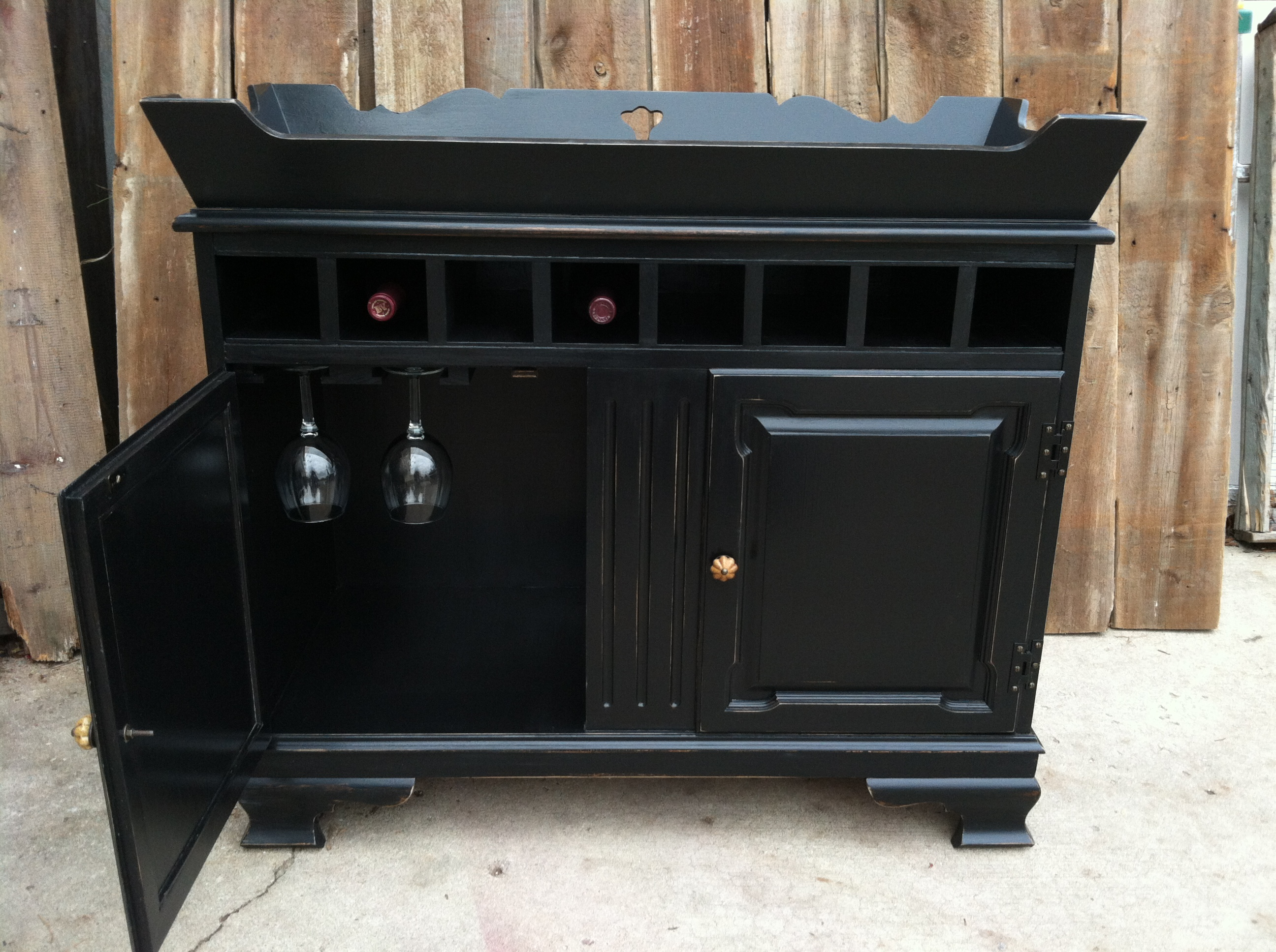 Dry Sink Repurposed Into Bar Services